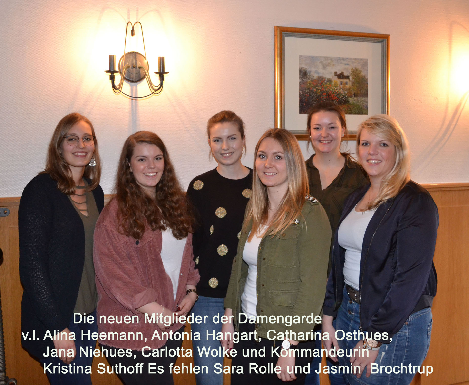 Sieben neue Damen in der Damengarde